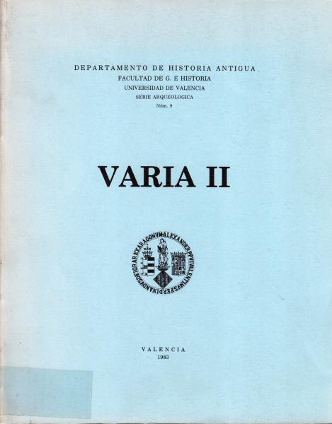 Serie Arqueológica 9 - Varia II