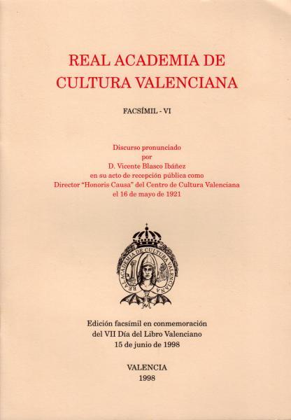 Discurso pronunciado por D. Vicente Blasco Ibáñez
