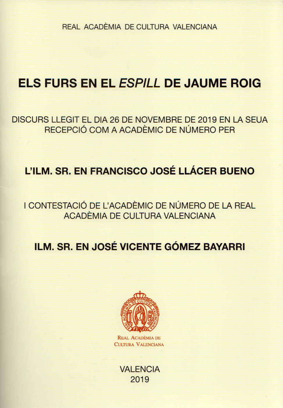 Discurso Francisco Llácer Bueno
